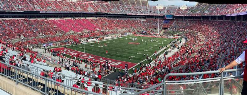 Vista sentada para Ohio Stadium Secção 34B Fila 6 Lugar 1