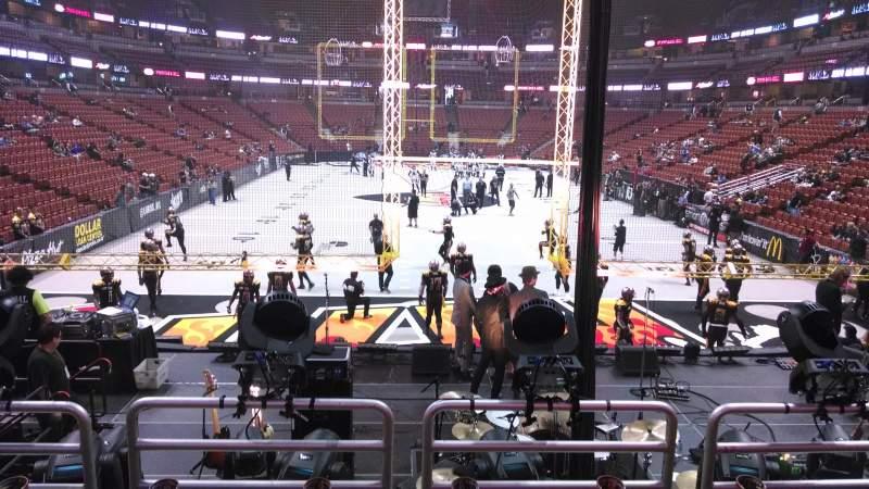 Vista sentada para Honda Center Secção 214 Fila P Lugar 8