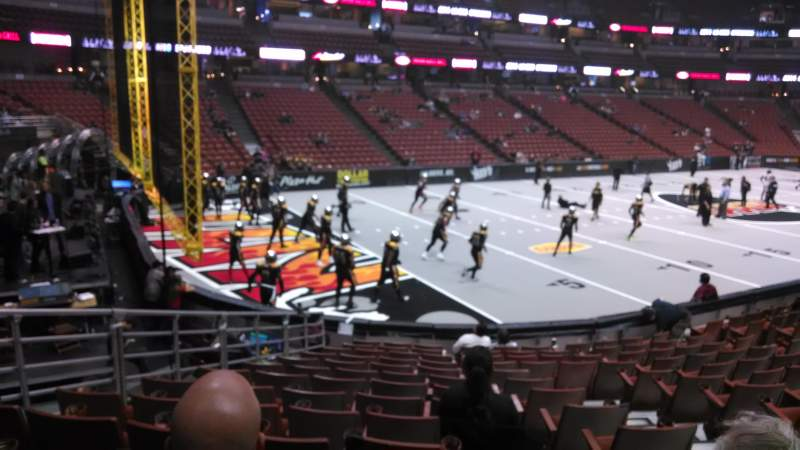Vista sentada para Honda Center Secção 212 Fila P Lugar 8
