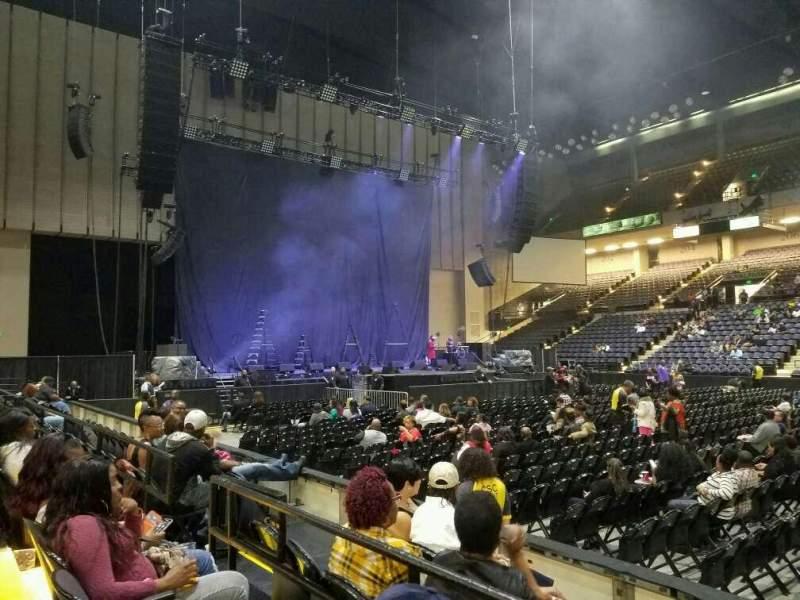 Vista sentada para Royal Farms Arena Secção 109 Fila B Lugar 7