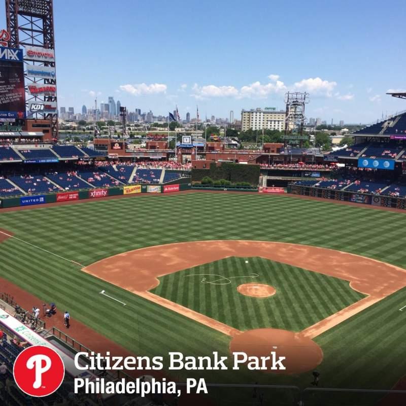 Vista sentada para Citizens Bank Park Secção 321 Fila 3 Lugar 16