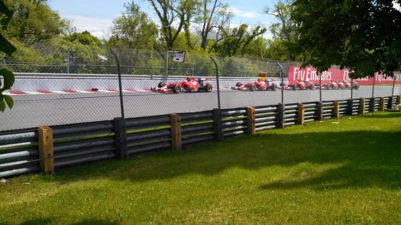 Vista sentada para Circuit Gilles Villeneuve Secção ga