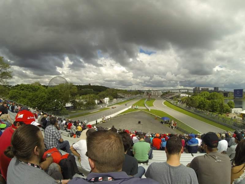 Vista sentada para Circuit Gilles Villeneuve Secção 34