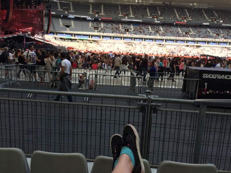 Vista sentada para Stade De France Secção S7 Fila 3 (front row Lugar 18