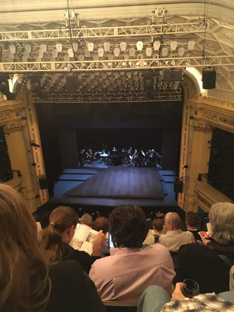 Vista sentada para Hudson Theatre Secção Balcony C Fila G Lugar 115