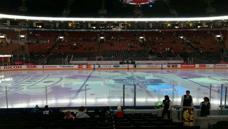 Vista sentada para Scotiabank Arena Secção 108 Fila 13 Lugar 21