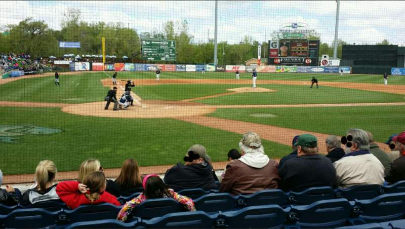 Vista sentada para Fifth Third Ballpark Secção 114 Fila 7 Lugar 16