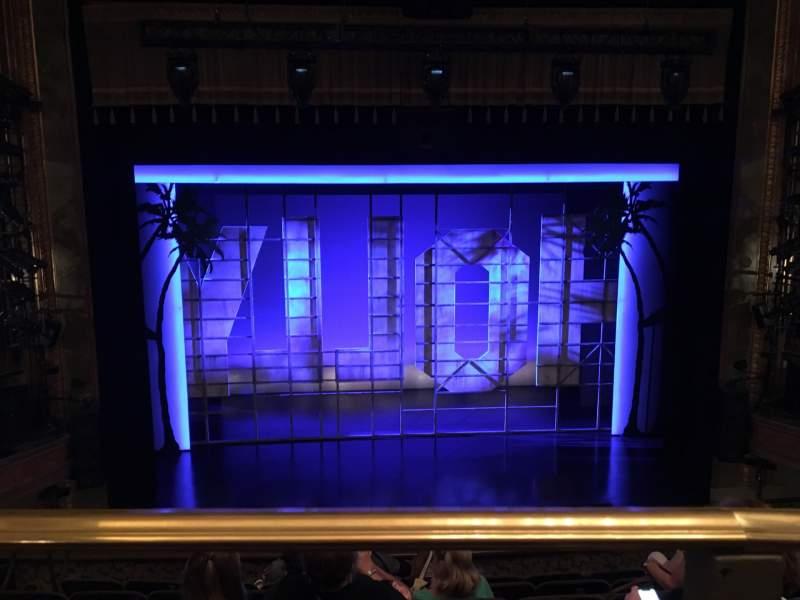 Vista sentada para Nederlander Theatre Secção Mezzanine C Fila G Lugar 111