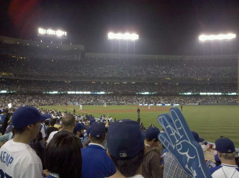 Vista sentada para Dodger Stadium Secção 44FD Fila F Lugar 6