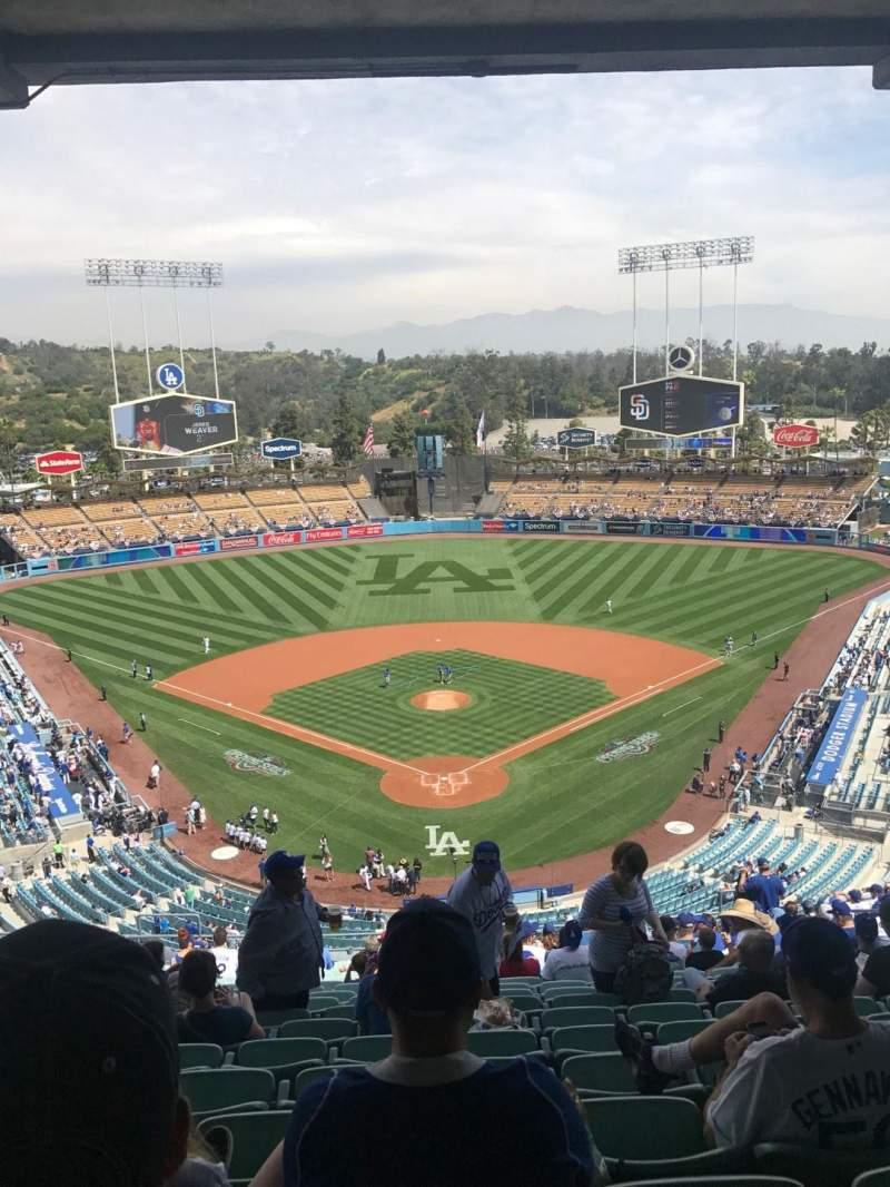 Vista sentada para Dodger Stadium Secção 1RS Fila U Lugar 13
