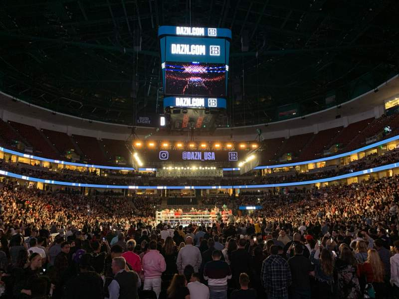 Vista sentada para Honda Center Secção 201 Fila D Lugar 11