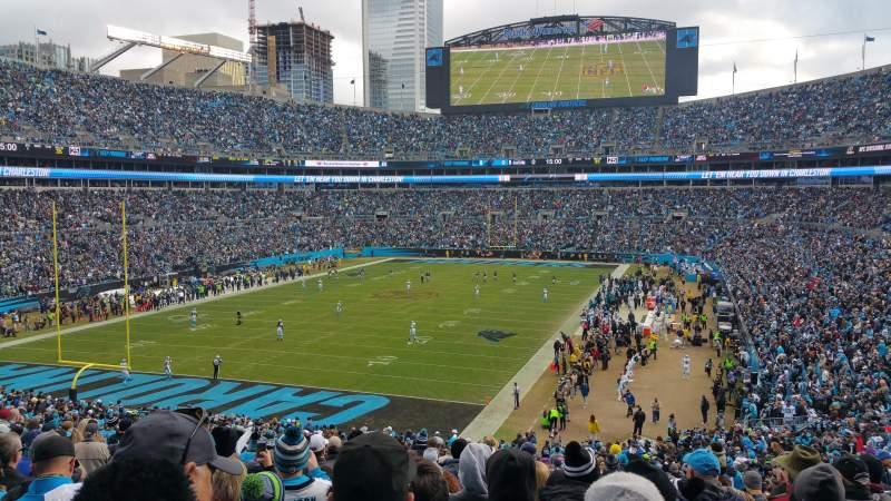 Vista sentada para Bank of America Stadium Secção 254 Fila 16 Lugar 11
