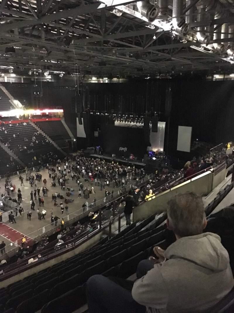 Vista sentada para Manchester Arena Secção 212 Fila K Lugar 10