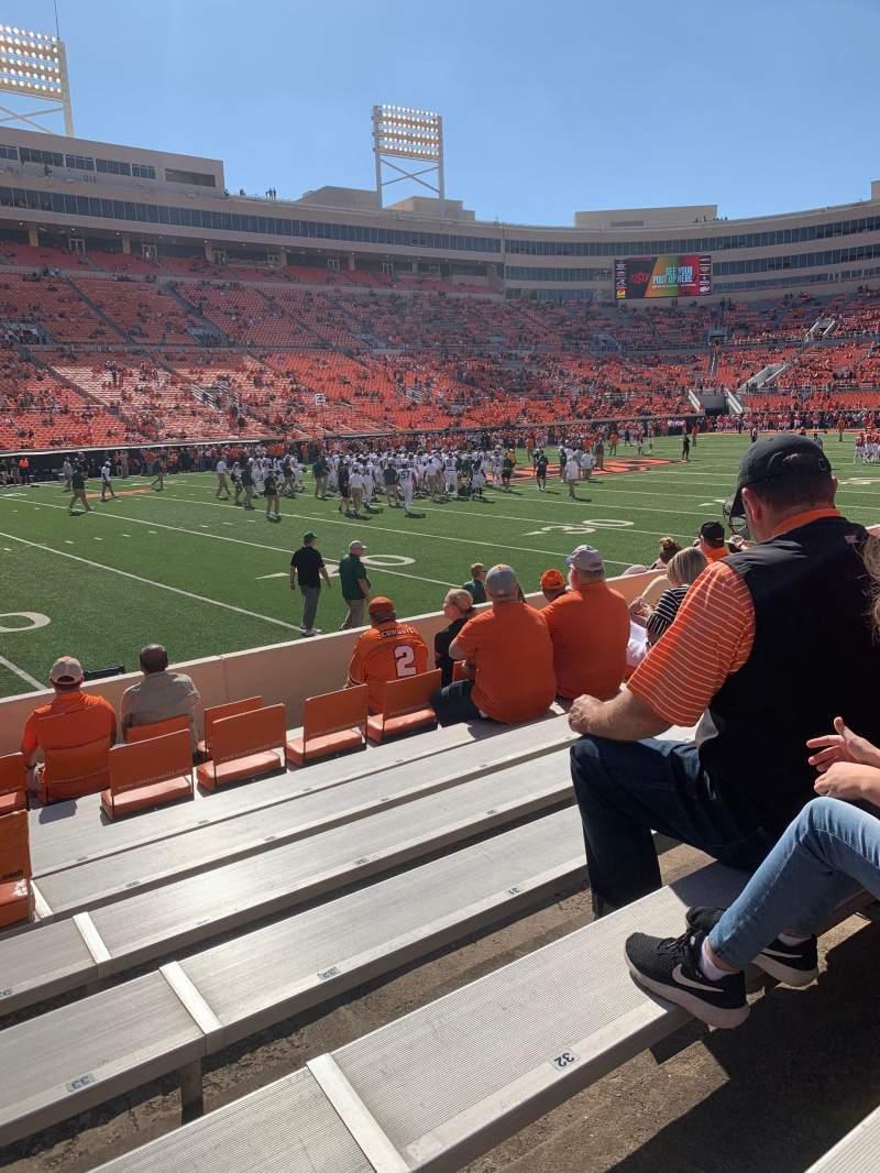Vista sentada para Boone Pickens Stadium Secção 119 Fila 8 Lugar 33