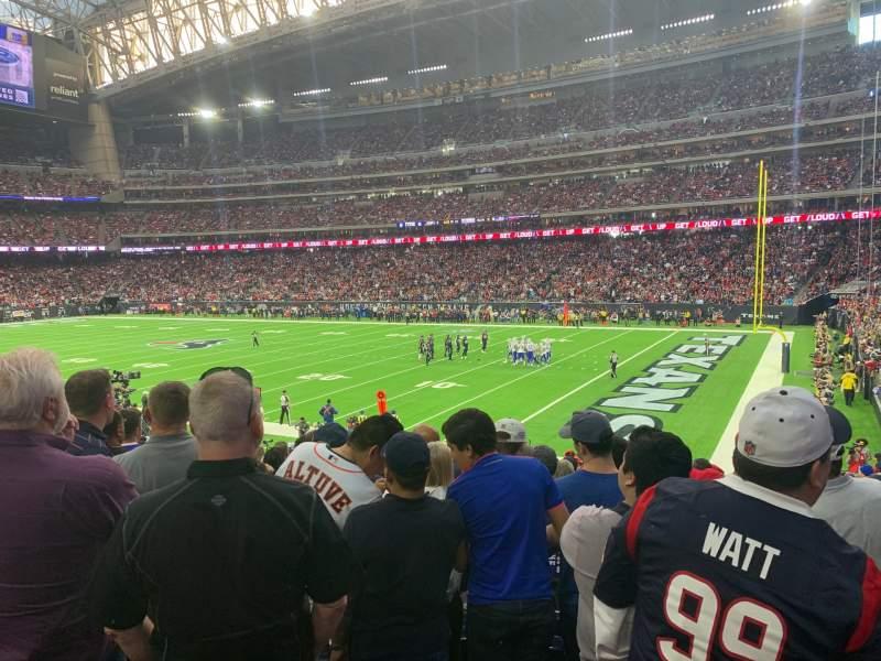 Vista sentada para NRG Stadium Secção 122 Fila X Lugar 1