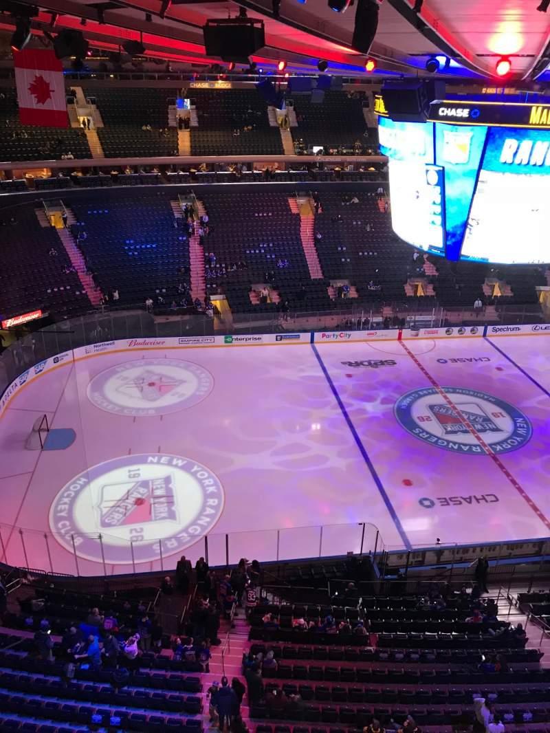 Vista sentada para Madison Square Garden Secção 312 Fila 1 Lugar 1