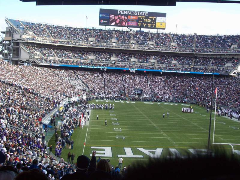 Vista sentada para Beaver Stadium Secção NH Fila 55