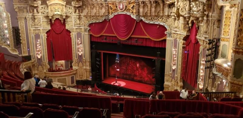 Vista sentada para Nederlander Theatre (Chicago) Secção Balcony FR Fila S Lugar 386