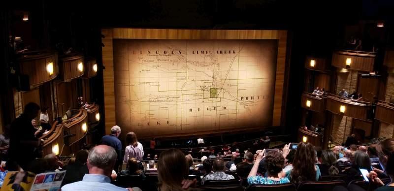 Vista sentada para Goodman Theatre - Albert Theatre Secção Balcony Fila JJ Lugar 33
