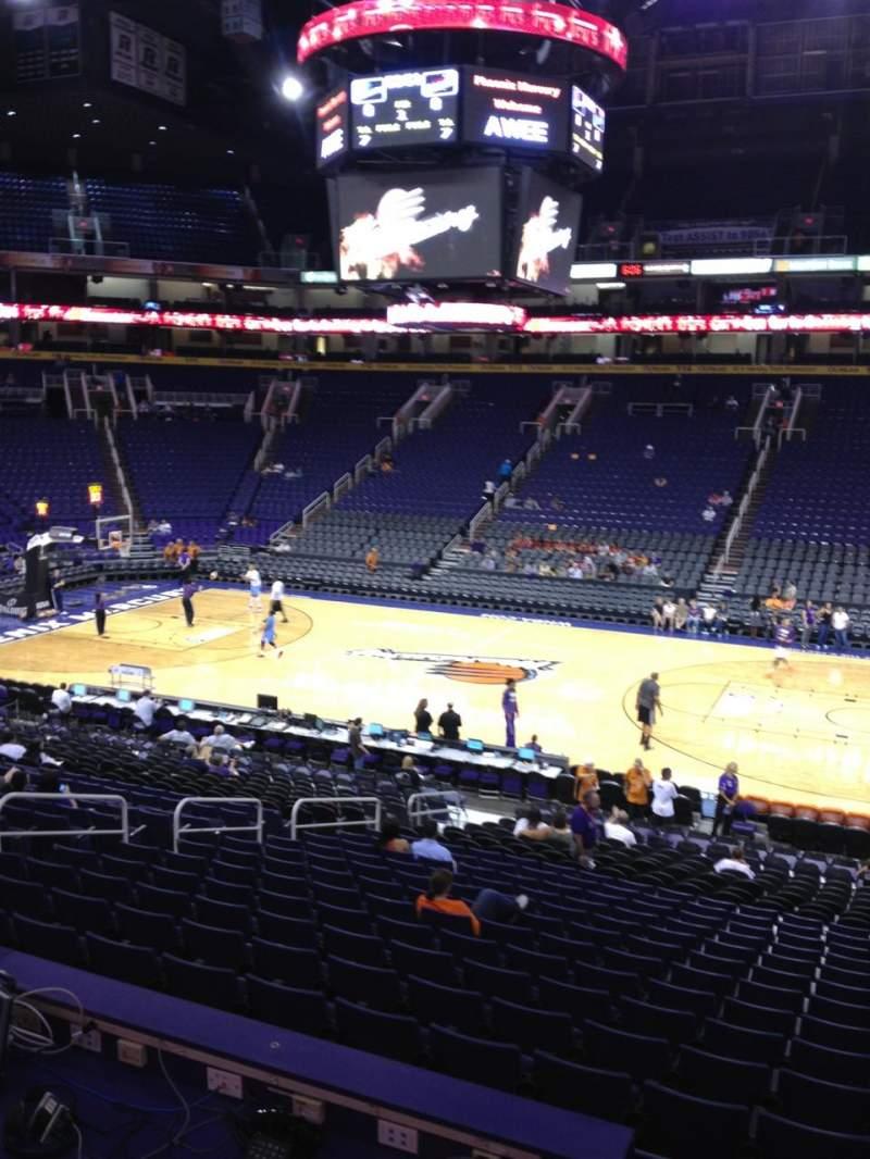 Vista sentada para PHX Arena Secção 101 Fila 23 Lugar 4