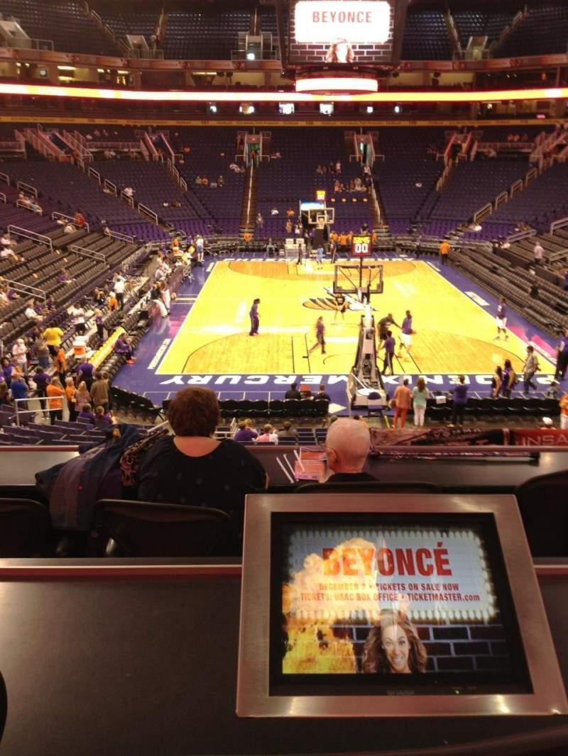 Vista sentada para PHX Arena Secção 120 Fila 22 Lugar 3