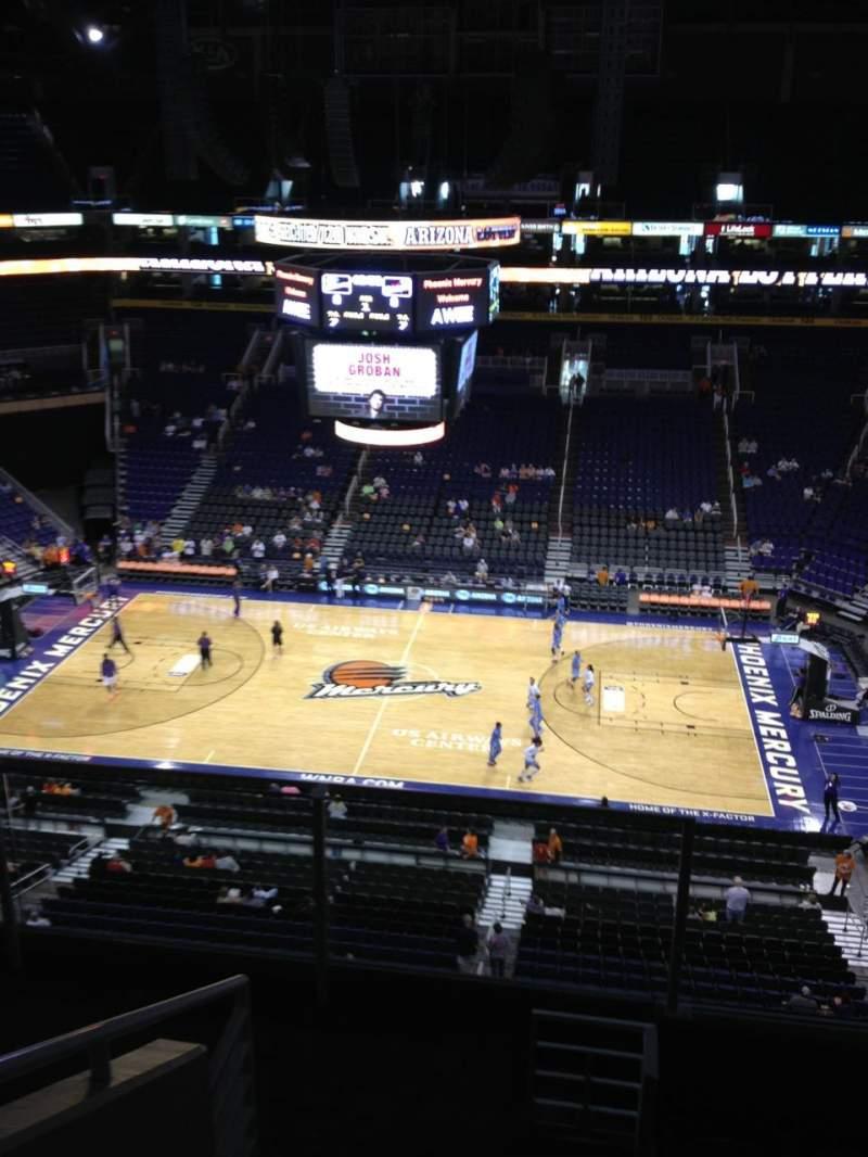 Vista sentada para PHX Arena Secção 218 Fila 6 Lugar 14