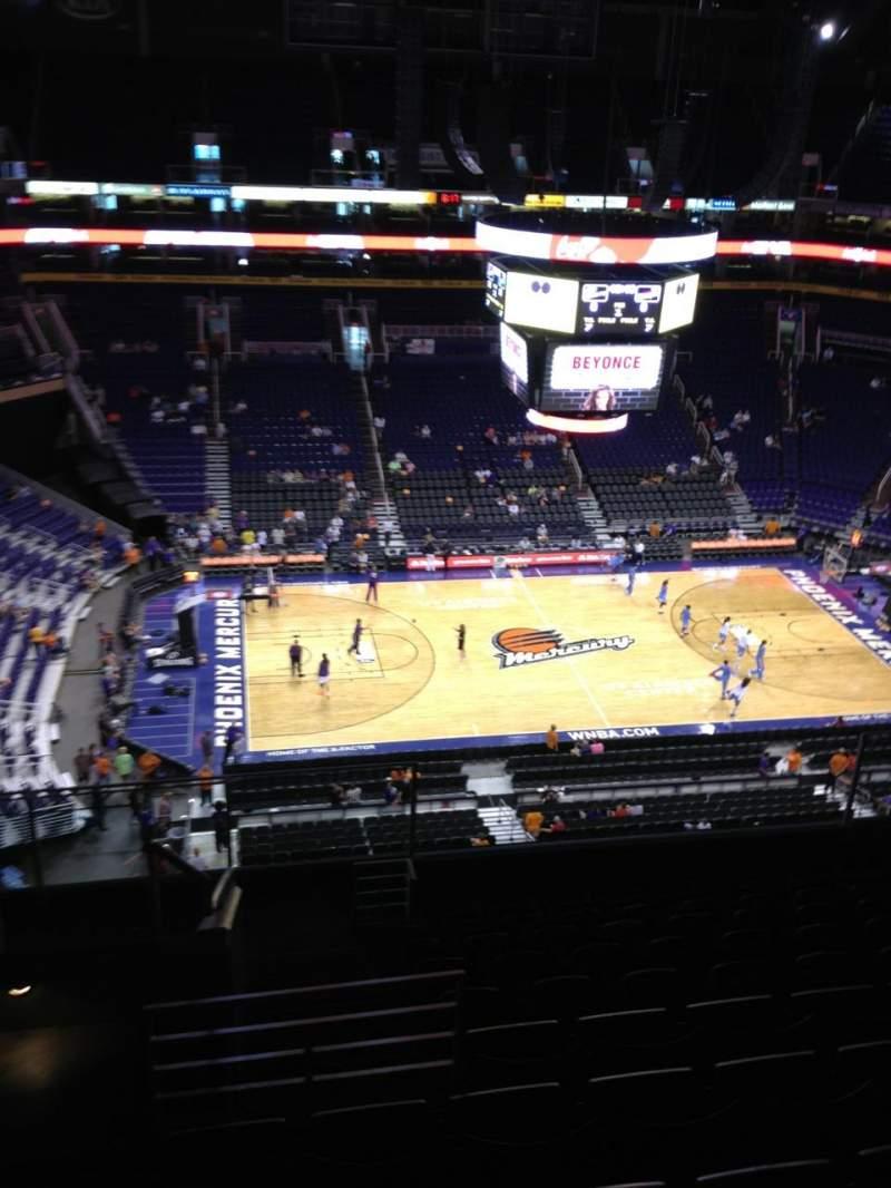 Vista sentada para PHX Arena Secção 220 Fila 11 Lugar 17