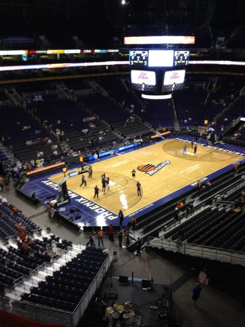 Vista sentada para PHX Arena Secção 224 Fila 1 Lugar 19
