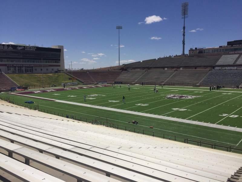 Vista sentada para Aggie Memorial Stadium Secção S Fila 18 Lugar 3