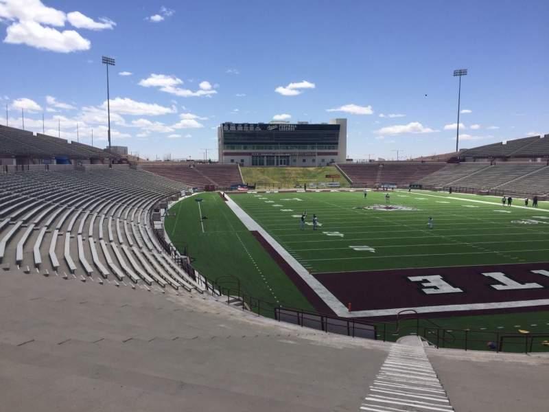 Vista sentada para Aggie Memorial Stadium Secção O Fila 18