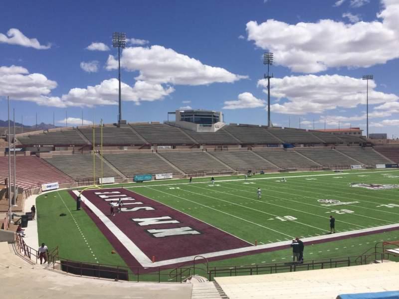 Vista sentada para Aggie Memorial Stadium Secção K Fila 18 Lugar 36