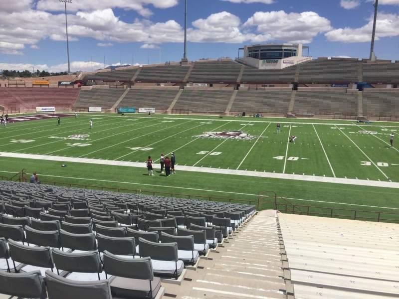 Vista sentada para Aggie Memorial Stadium Secção G Fila 18 Lugar 3