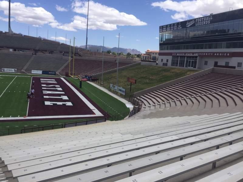 Vista sentada para Aggie Memorial Stadium Secção F Fila 17 Lugar 31