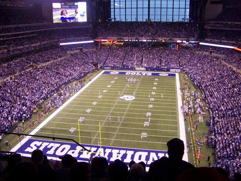 Vista sentada para Lucas Oil Stadium Secção 625 Fila 8 Lugar 15