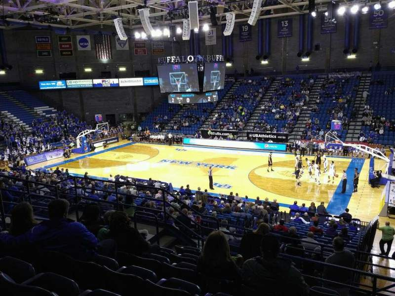 Vista sentada para Alumni Arena (University at Buffalo) Secção 202 Fila G Lugar 5