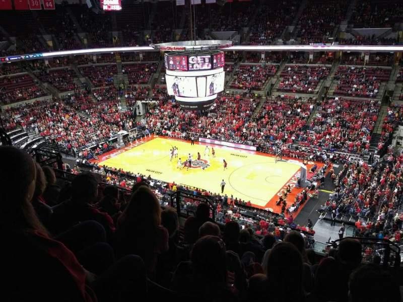 Vista sentada para Value City Arena Secção 320 Fila K Lugar 5