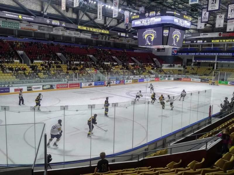 Vista sentada para Kitchener Memorial Auditorium Secção 7 Fila I Lugar 1
