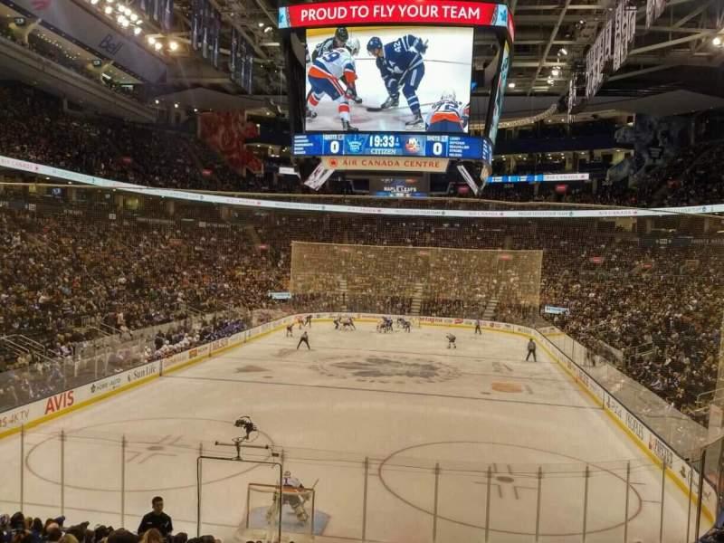 Vista sentada para Scotiabank Arena Secção 113 Fila 21 Lugar 10