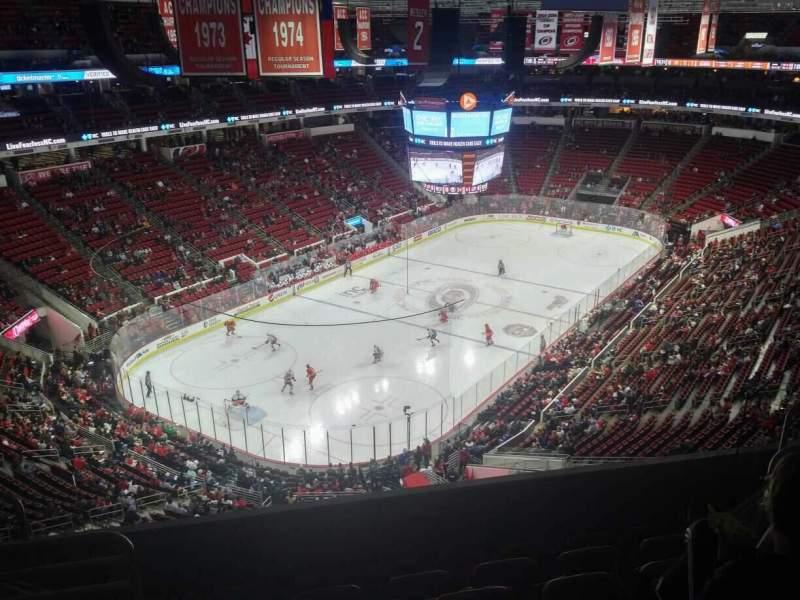 Vista sentada para PNC Arena Secção 330 Fila F Lugar 9