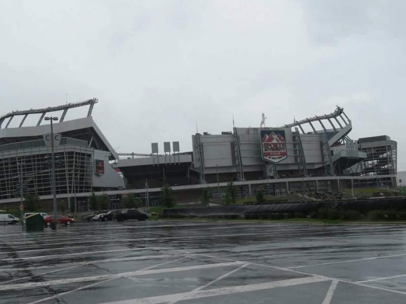Vista sentada para Empower Field at Mile High Stadium Secção exterior