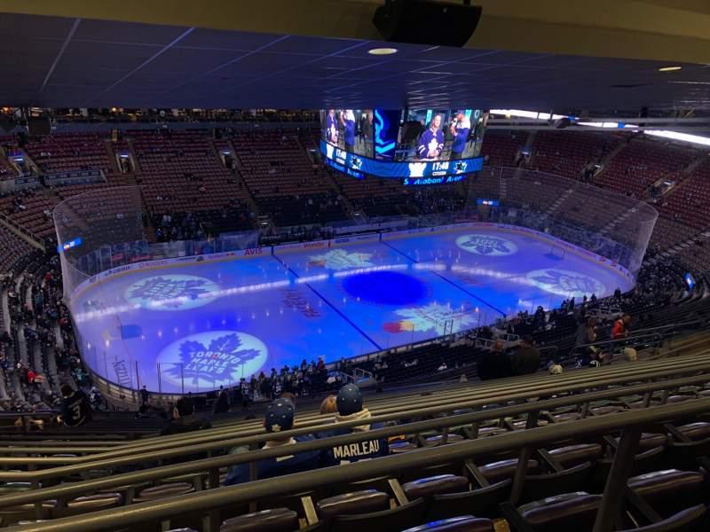 Vista sentada para Scotiabank Arena Secção 311 Fila 17 Lugar 24