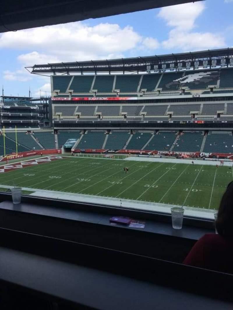 Vista sentada para Lincoln Financial Field Secção Presidential Suite