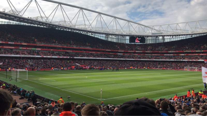 Vista sentada para Emirates Stadium Secção 21 Fila 24 Lugar 647
