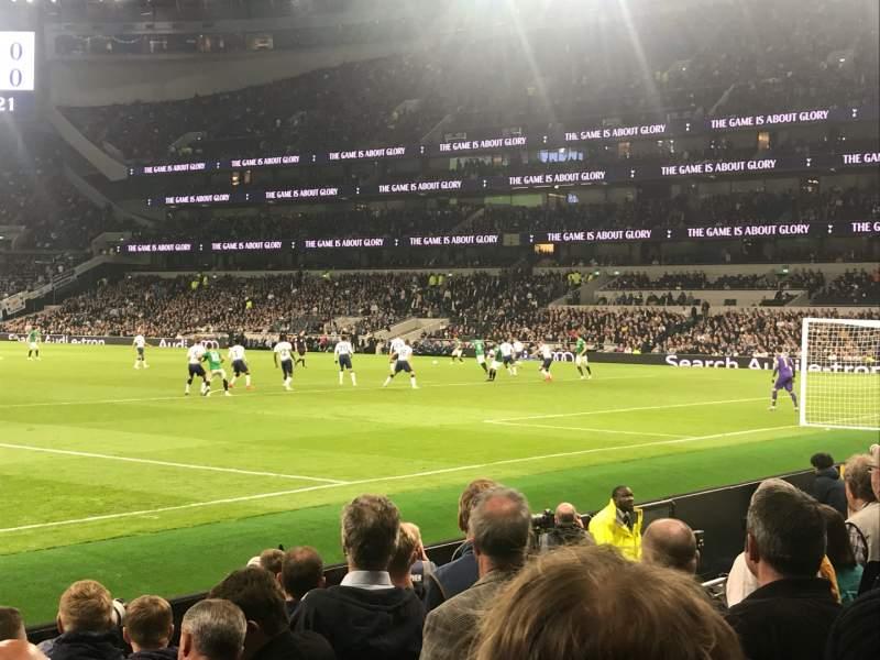 Vista sentada para Tottenham Hotspur Stadium Secção 115 Fila 6 Lugar 441