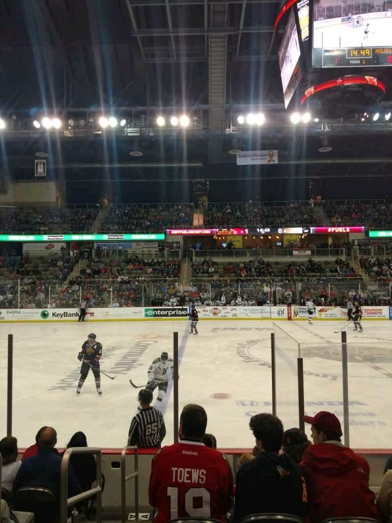 Vista sentada para Indiana Farmers Coliseum Secção 200 Fila A Lugar 26