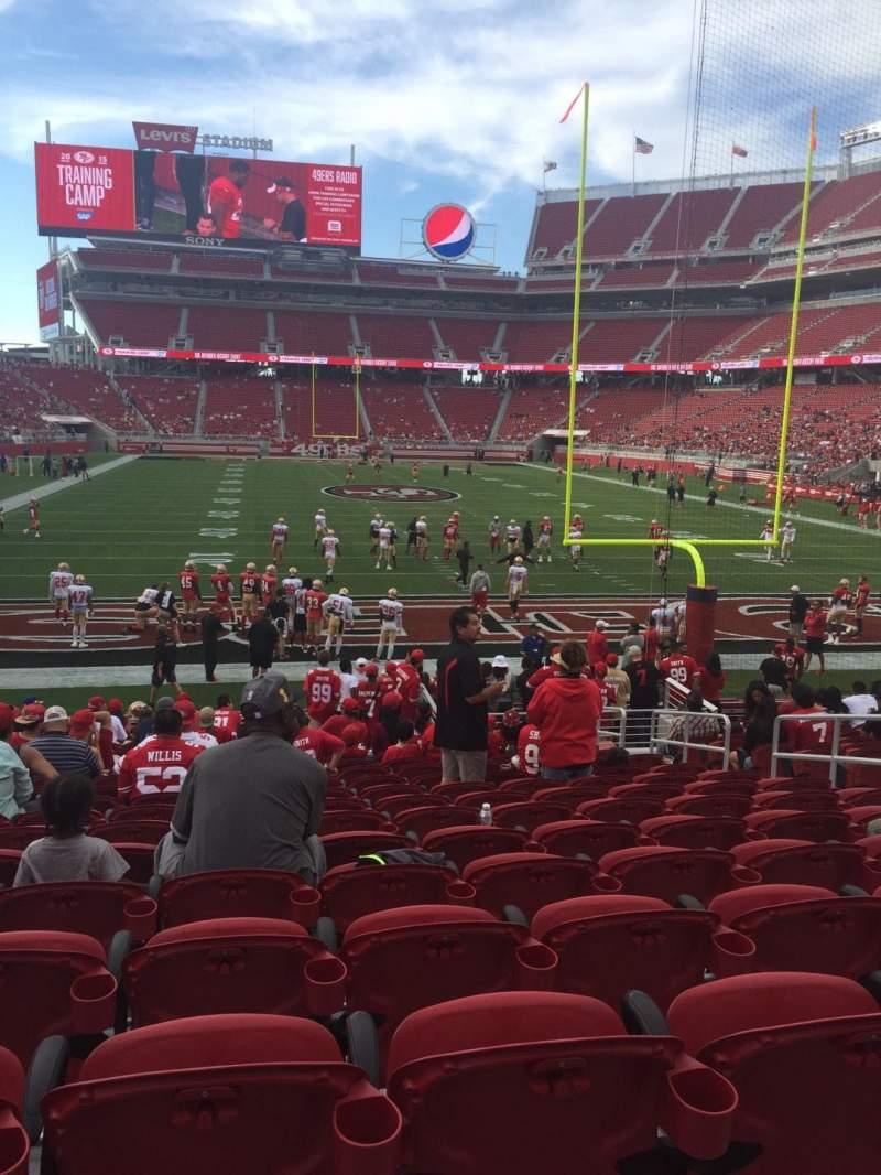 Vista sentada para Levi's Stadium Secção 128 Fila 16 Lugar 8