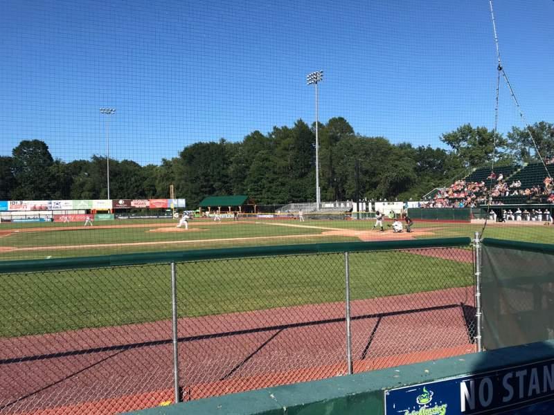Vista sentada para Centennial Field
