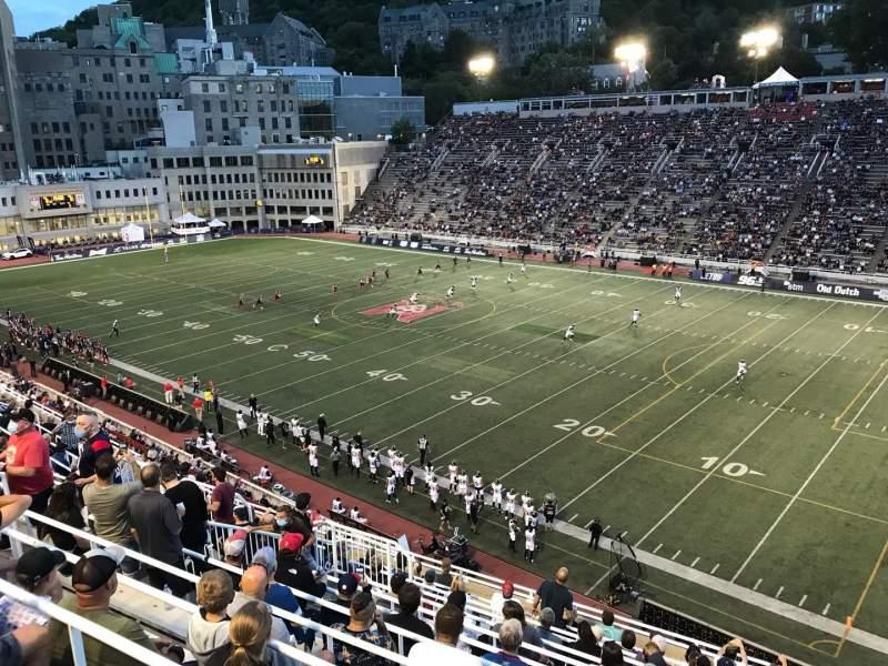 Vista sentada para Percival Molson Memorial Stadium Secção Q2 Fila 13 Lugar 16