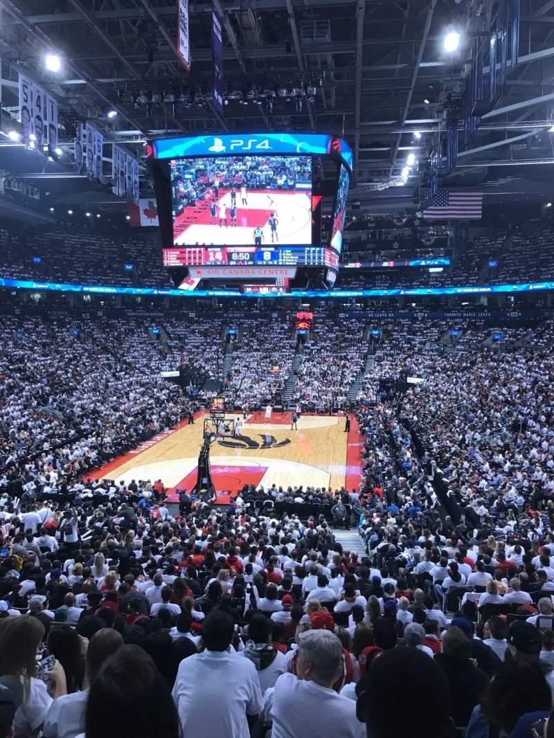 Vista sentada para Scotiabank Arena Secção 102 Fila 26 Lugar 7