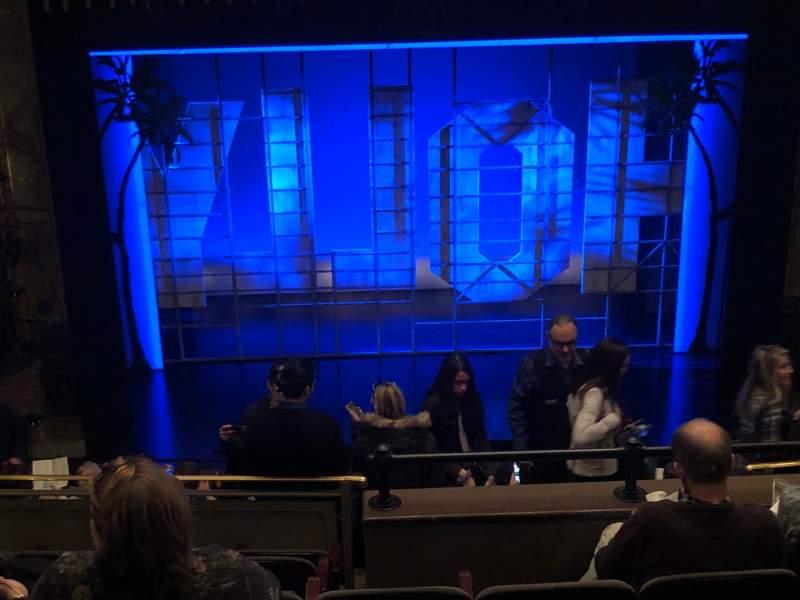 Vista sentada para Nederlander Theatre Secção Mezzanine C Fila N Lugar 110